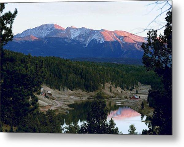 Pikes Peak Sunset Metal Print