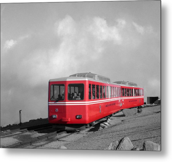 Metal Print featuring the photograph Pikes Peak Train by Shane Bechler