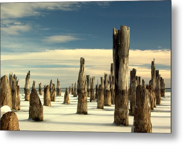 pilings II Metal Print