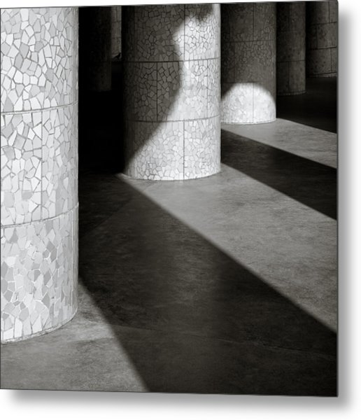 Pillars And Shadow Metal Print