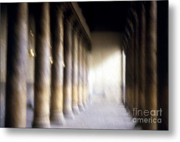 Pillars In Israel Metal Print by Scott Shaw