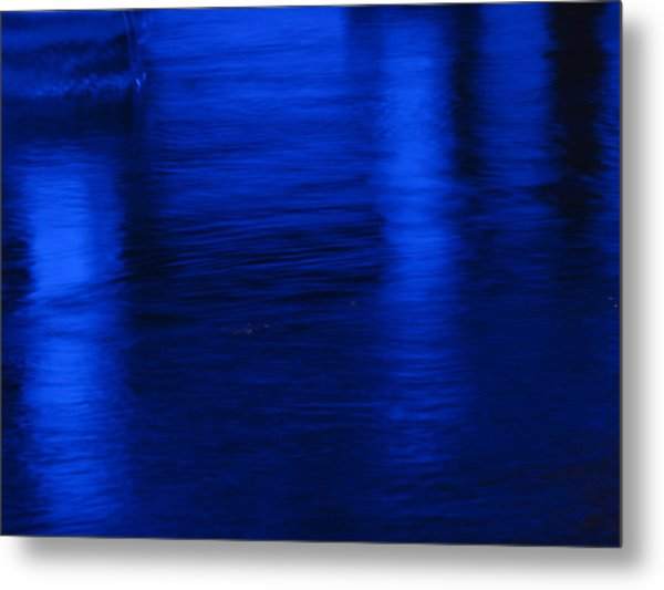 Pillars Of Blue Metal Print