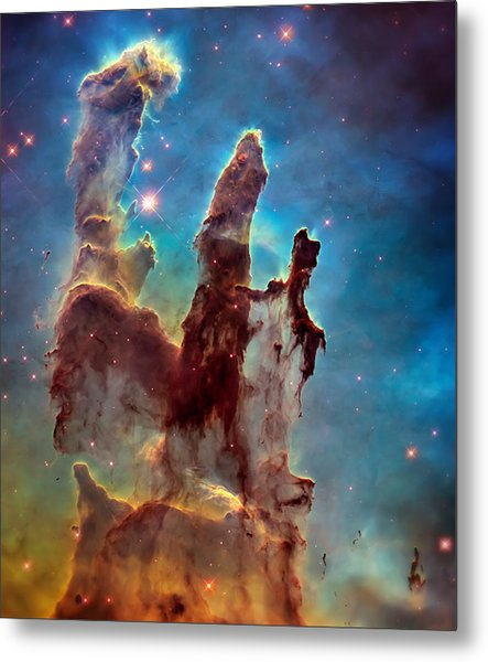 Pillars Of Creation In High Definition Cropped Metal Print