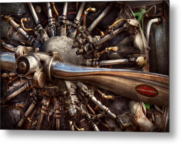 Pilot - Plane - Engines At The Ready  Metal Print