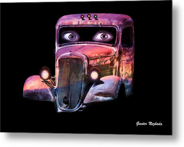 Pin Up Cars - #3 Metal Print