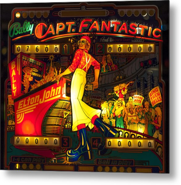 Pinball Machine Capt. Fantastic Metal Print