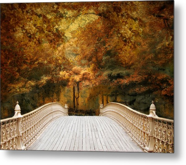 Pine Bank Autumn Metal Print