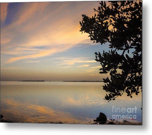 Pine Island Florida Liquid Gold Sunset Metal Print