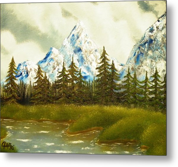 Pine Mountain River Metal Print