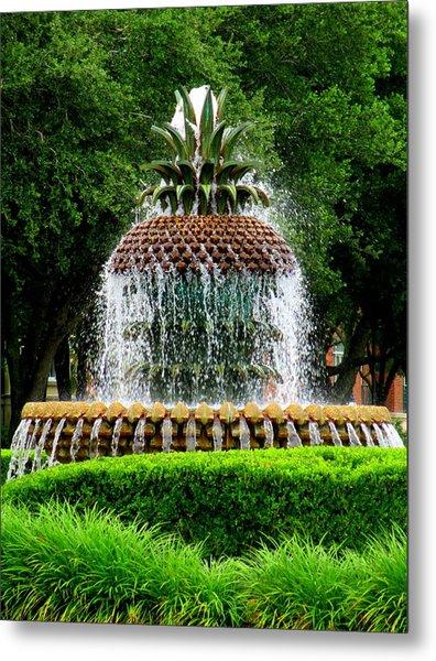Pineapple Fountain 2 Metal Print