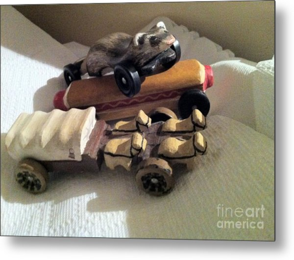 Pinewood Derby Art Metal Print