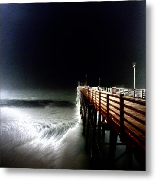 Pinhole Oceanside Pier Metal Print