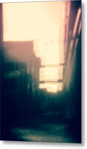 Pinholed Cityscape  Metal Print