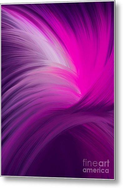 Pink And Purple Swirls Metal Print