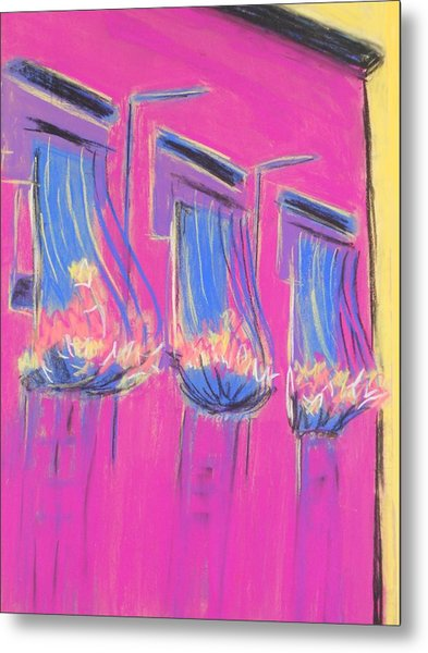 Pink Balcony Metal Print by Marcia Meade