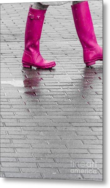 Pink Boots 2 Metal Print