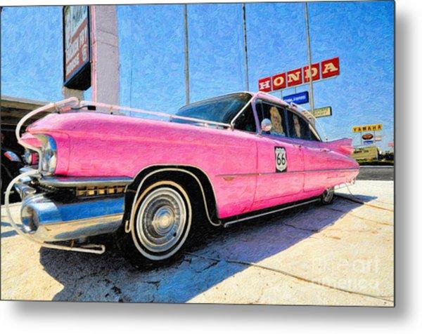 Pink Cadillac Metal Print