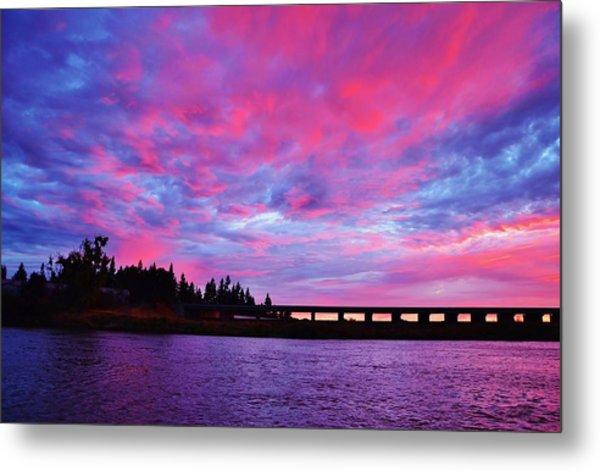 Pink Cloud Invasion Sunset Metal Print
