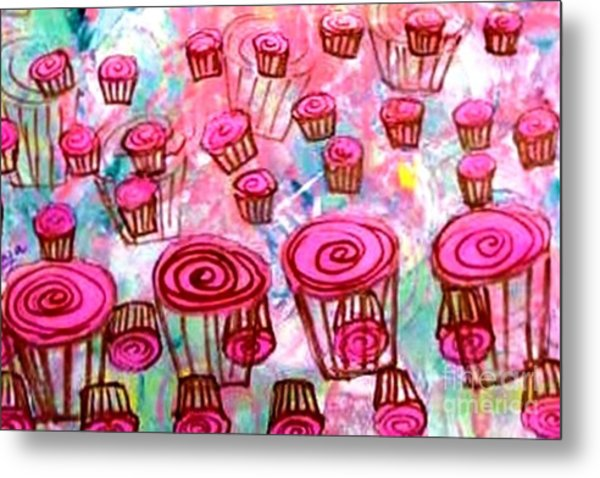 Pink Cupcake Dream Metal Print