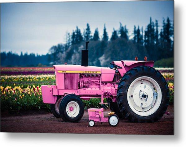 Pink Deeres Metal Print