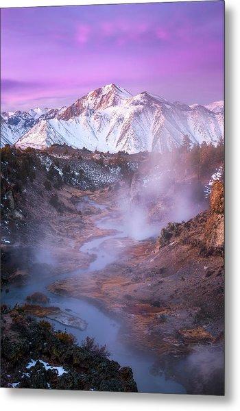Pink Eastern Sierra Metal Print