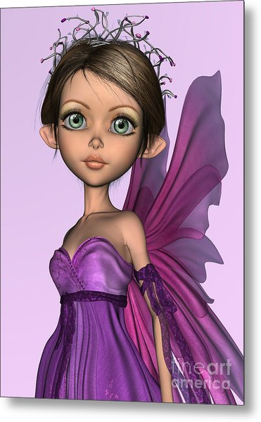 Pink Fairy Metal Print by Design Windmill
