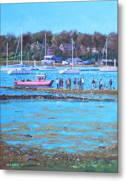 Pink Ferry On The River Hamble Metal Print