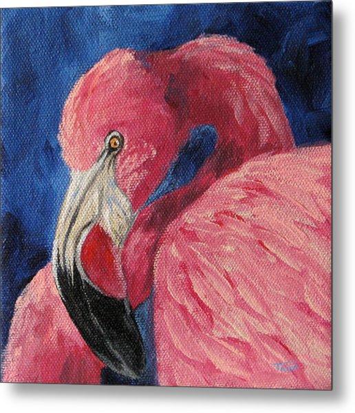 Pink Flamingo Iv Metal Print