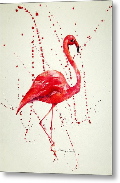 Pink Flamingo Metal Print