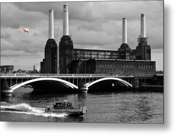 Pink Floyd's Pig At Battersea Metal Print