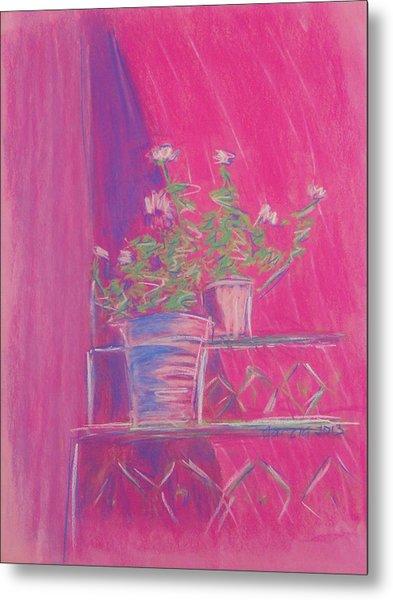 Pink Geraniums Metal Print by Marcia Meade