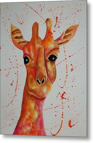 Pink Giraffe  Metal Print