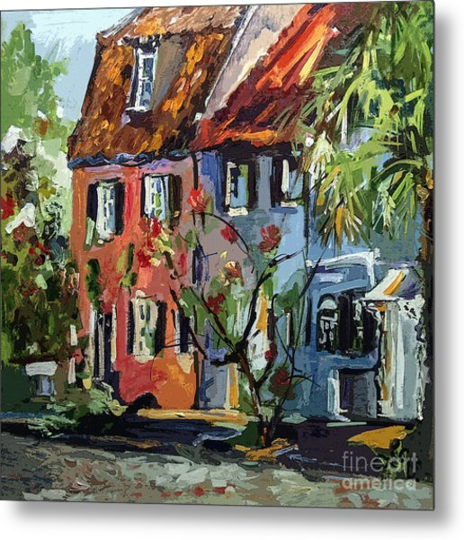 Pink House On Chalmers Street Charleston South Carolina Metal Print