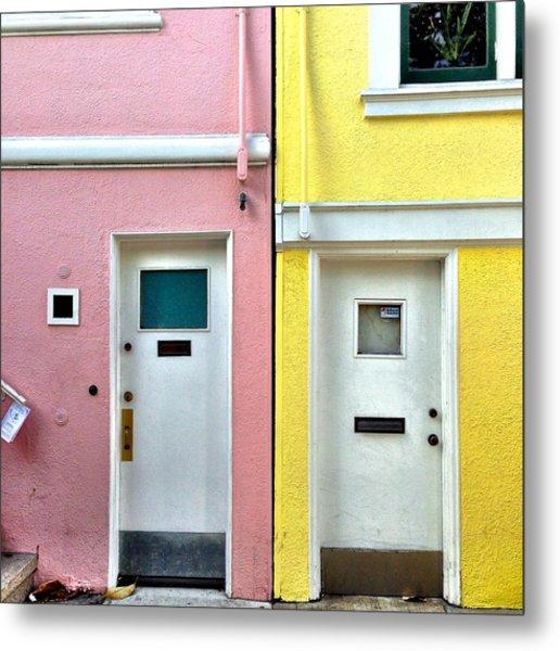 Pink Meets Yellow Metal Print