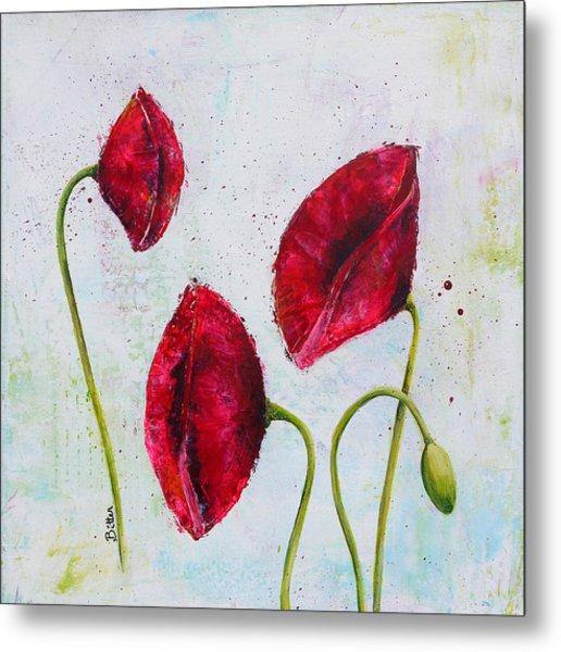 Pink Poppies 2 Metal Print by Bitten Kari
