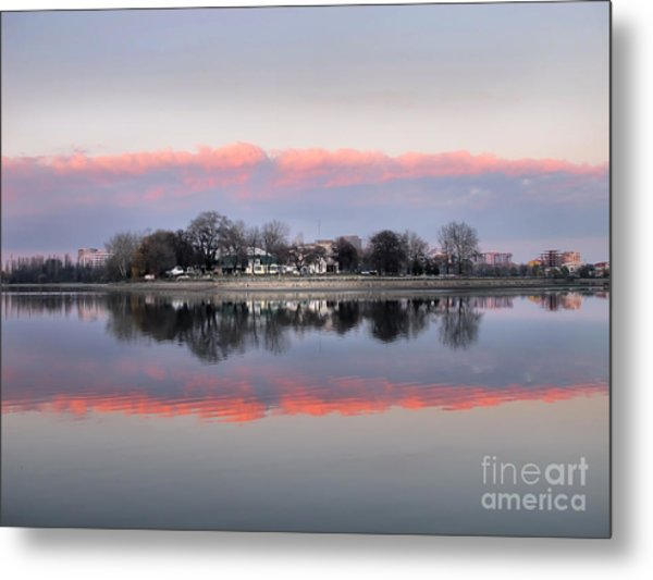 Pink Reflection  Metal Print