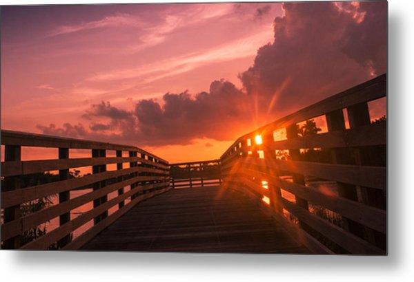 Pink Sky Sunset Metal Print