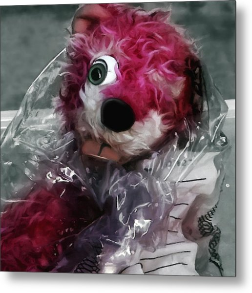 Pink Teddy Bear In Evidence Bag @ Tv Serie Breaking Bad Metal Print