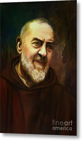 Pio Of Pietrelcina Metal Print