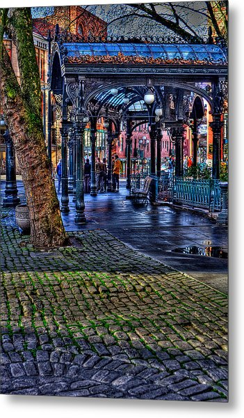 Pioneer Square In Seattle Metal Print