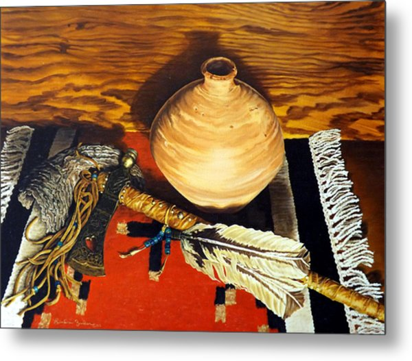 Pipe Hawk Metal Print