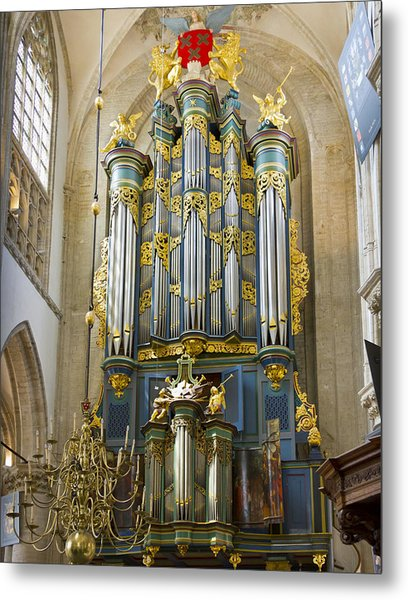 Pipe Organ In Breda Grote Kerk Metal Print
