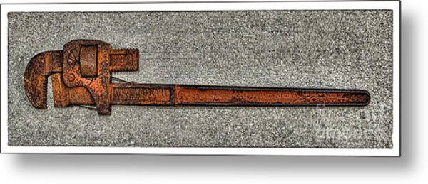 Pipe Wrench Made In U S A Metal Print