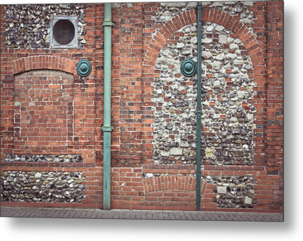 Pipes And Wall Metal Print