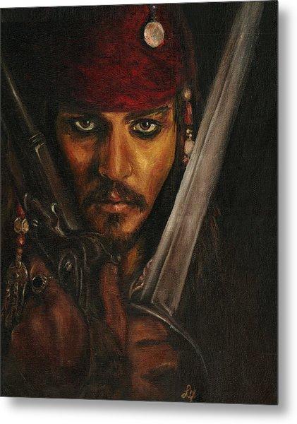 Pirates- Captain Jack Sparrow Metal Print