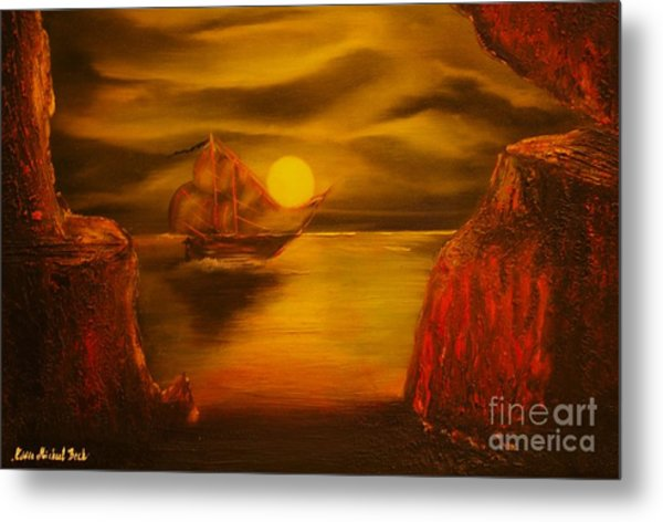 Pirates Cave- Original Sold - Buy Giclee Print Nr 27 Of Limited Edition Of 40 Prints  Metal Print