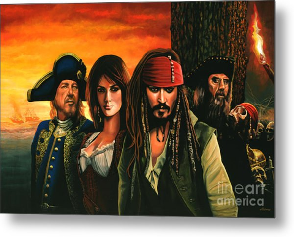 Pirates Of The Caribbean  Metal Print
