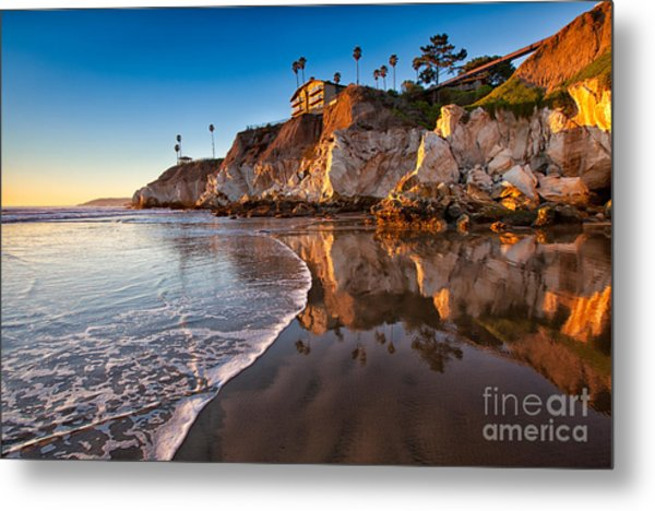 Pismo Cliffs And Reflections Metal Print