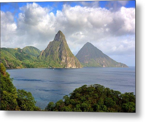 Piton Mountains - Saint Lucia Metal Print