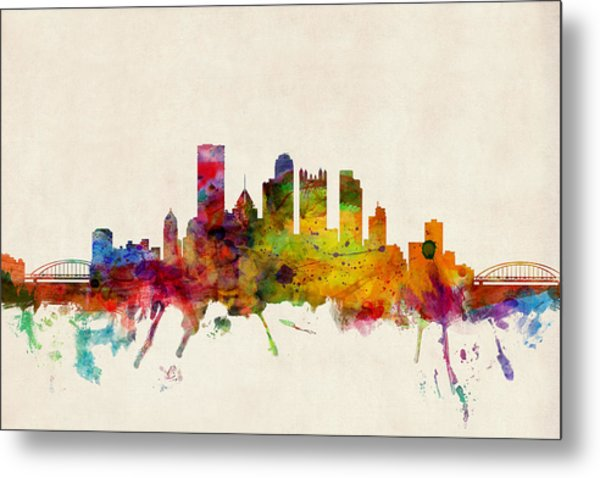 Pittsburgh Pennsylvania Skyline Metal Print